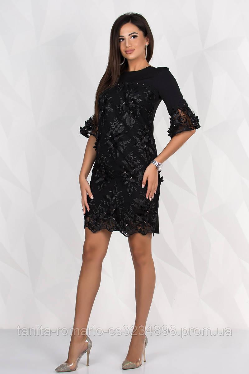 Коктейльное платье 8127e Чёрный M(р)