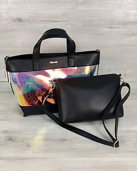 Перламутровая женская молодежная сумка