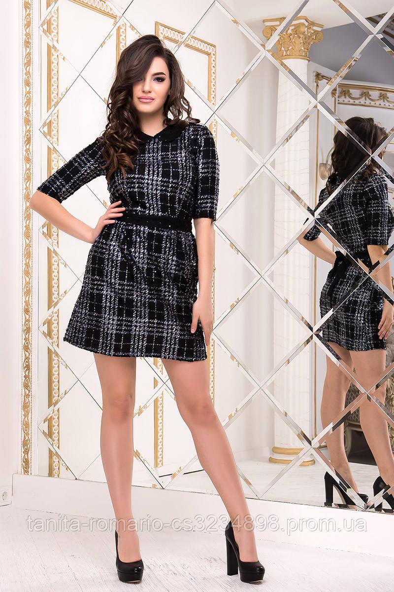 Повседневное платье 8152e Чёрный L(р)