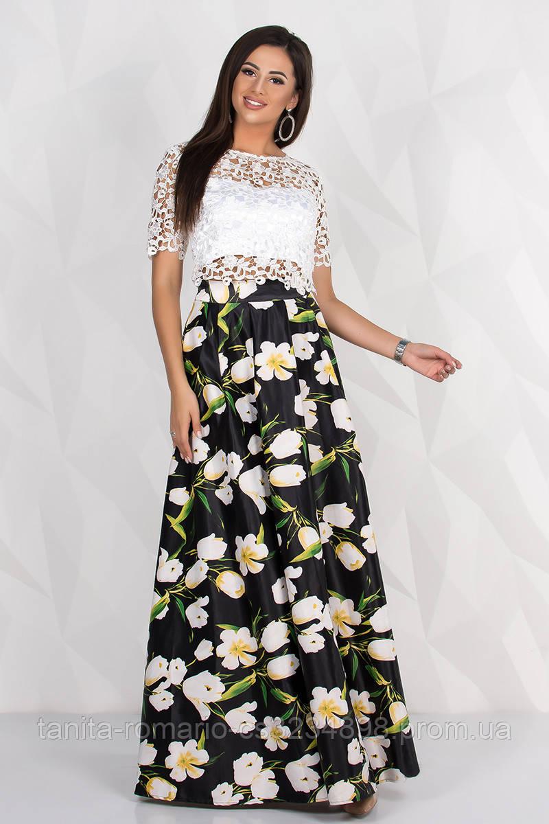 Вечернее платье 8088e Белый M(р)