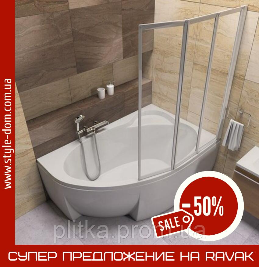 Ванна Asymmetric 150 x 100 R C451000000 + Опора Asymmetric CY44000000+Панель Asymmetric + кріплення