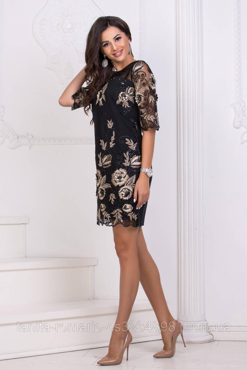 Коктейльное платье 8151e Чёрный L(р)