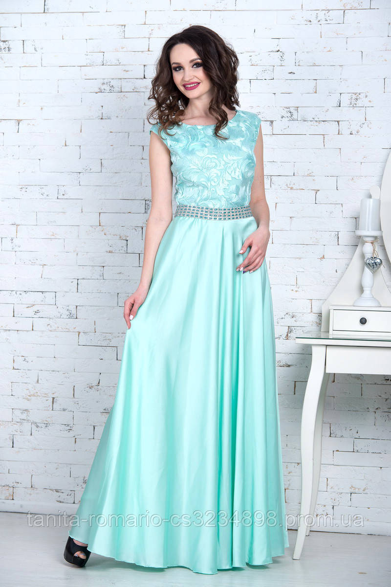 Вечернее платье 7084e Мятный M(р)