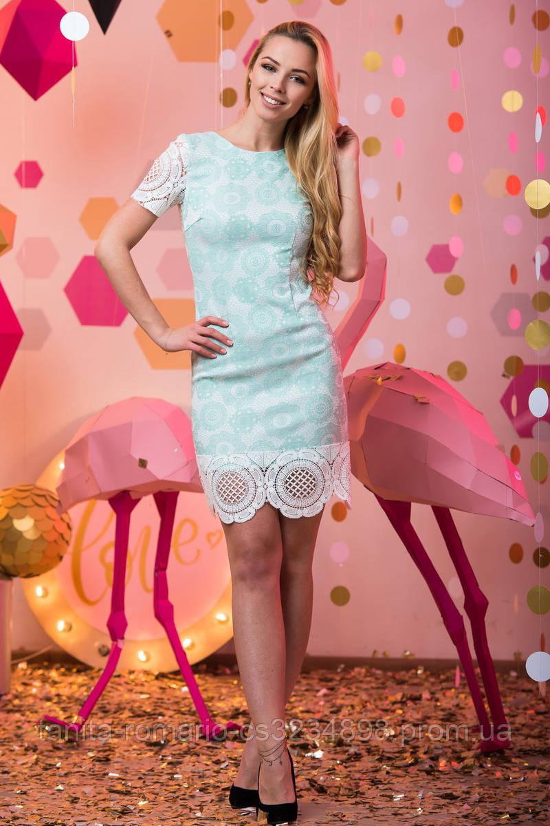 Коктейльное платье 7051e Мятный S(р)