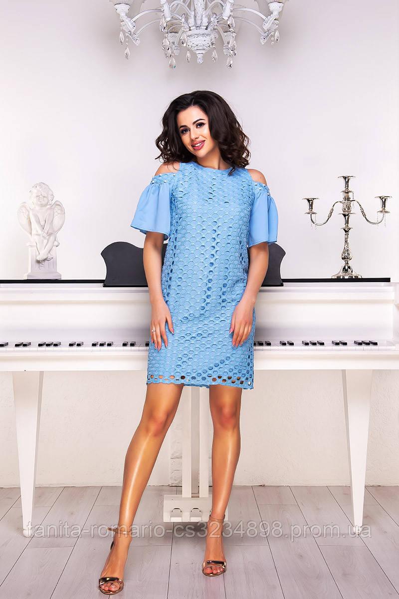 Коктейльное платье 8108e Голубой L(р)