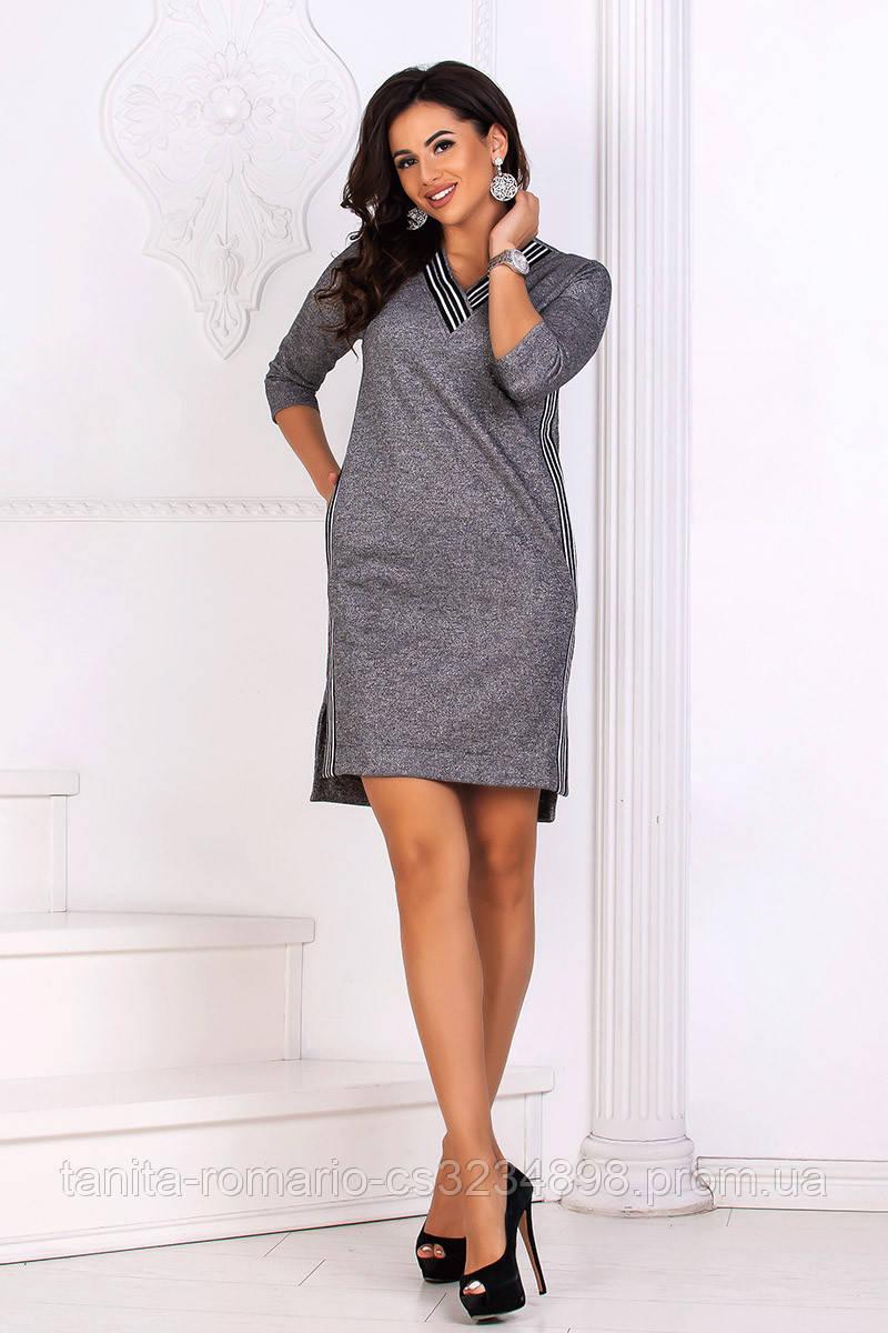 Повседневное платье 8161e Серый L(р)