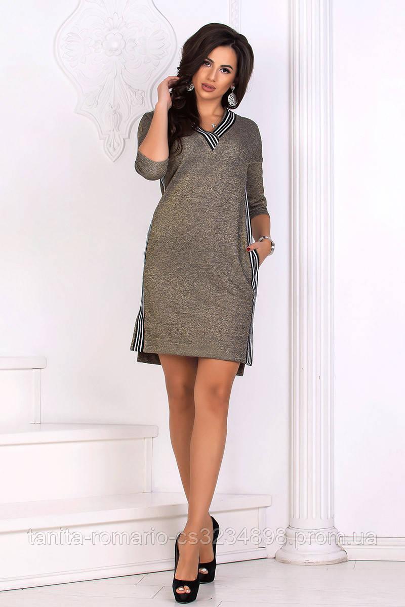 Повседневное платье 8161e Золотой L(р)