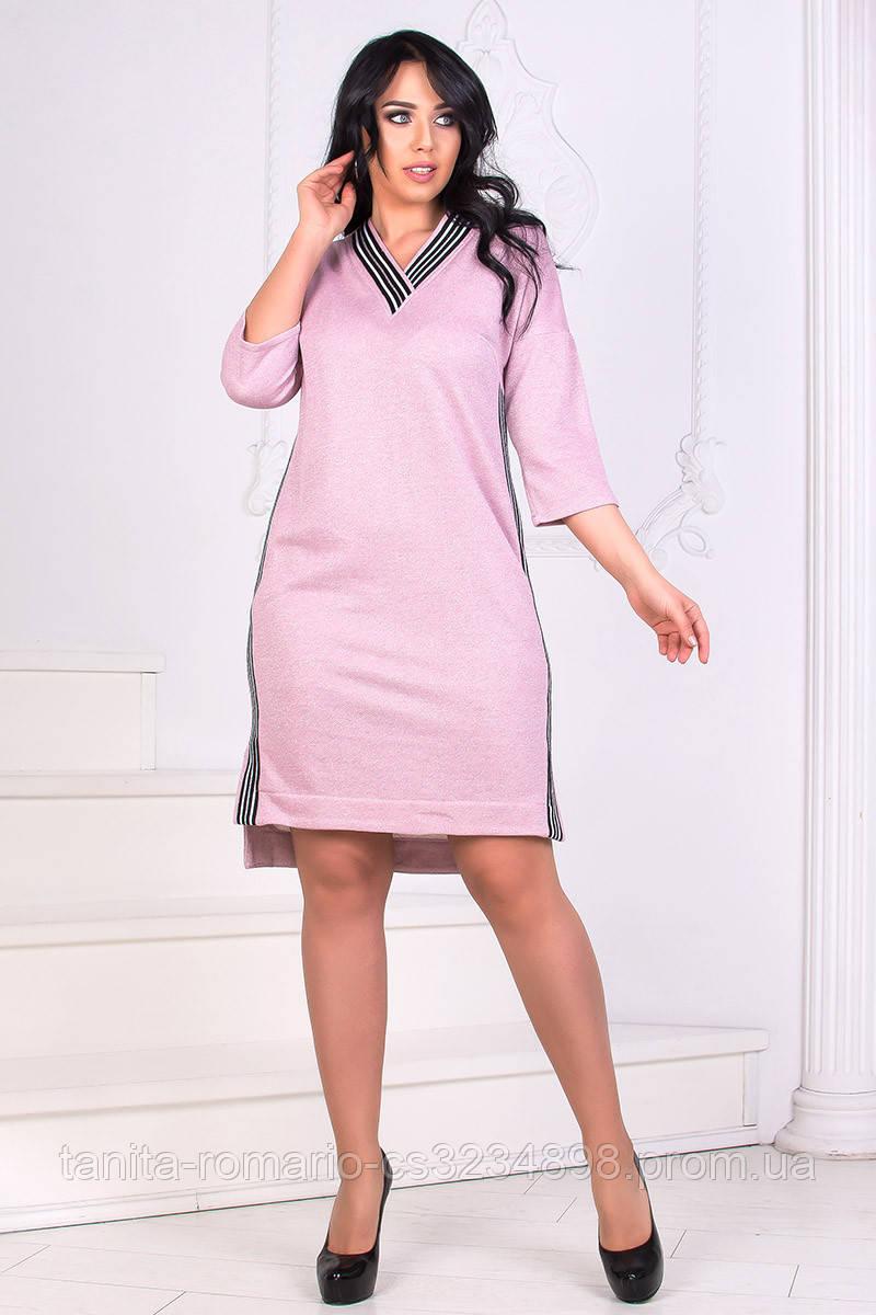 Повседневное платье 8161e batal Розовый XXL(р)