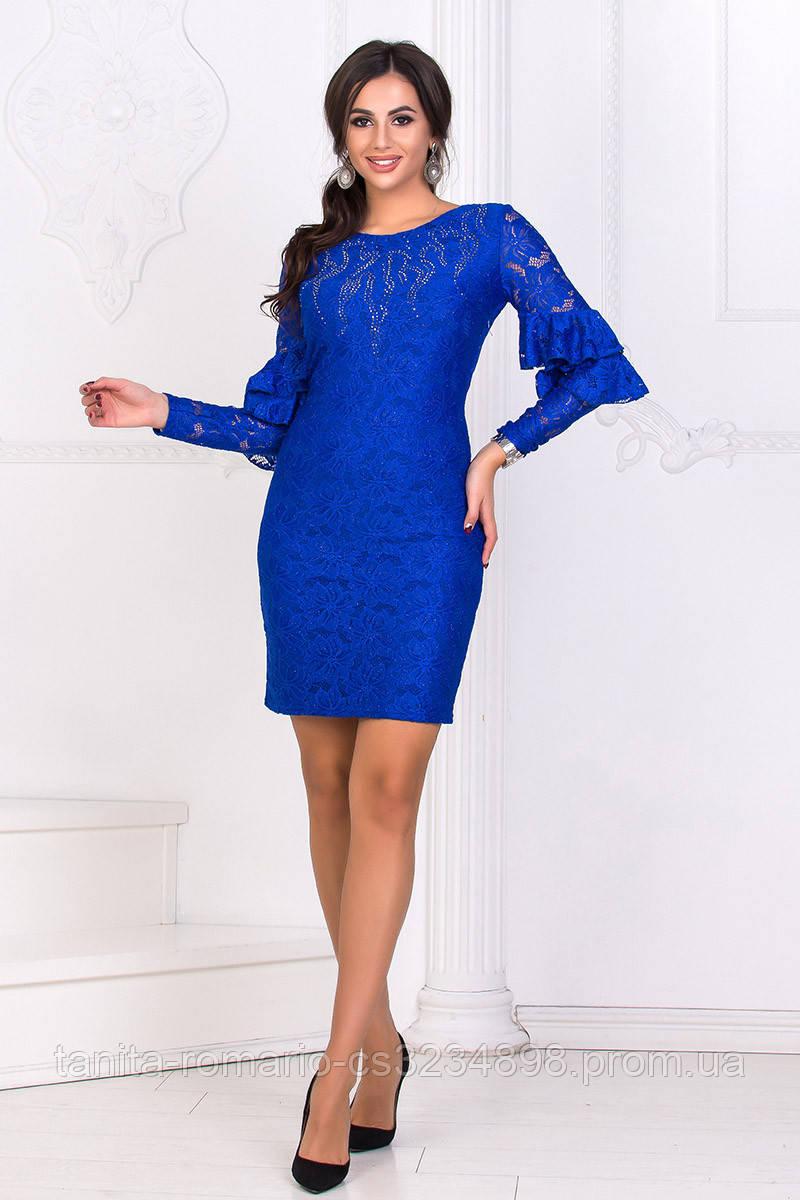 Коктейльное платье 8174e Электрик L(р)