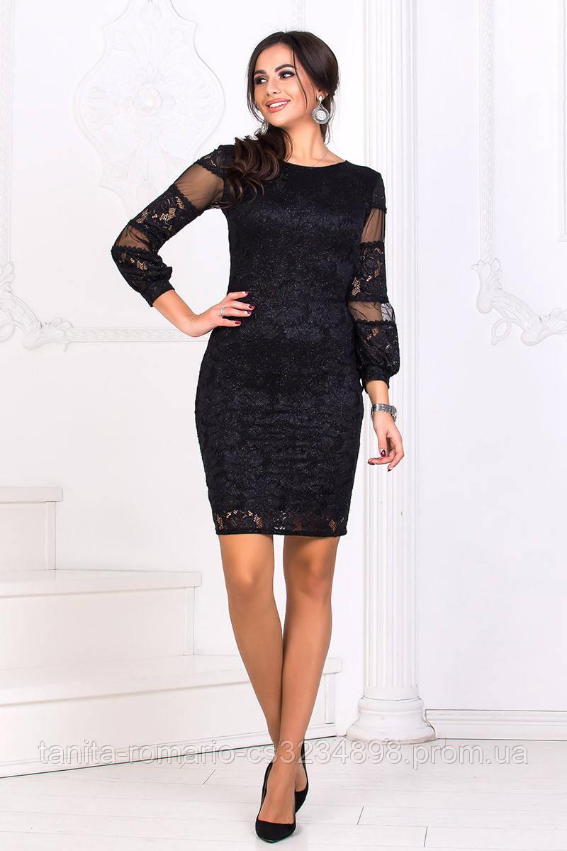 Коктейльное платье 8169e Чёрный L(р)