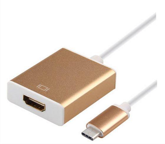 Переходник USB Type C в HDMI; 0.15м Золотистый (AC-TypeC - HDMI)