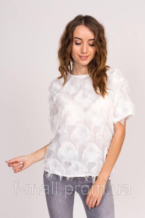Стильная блузка с имитацией перьев (6101  )