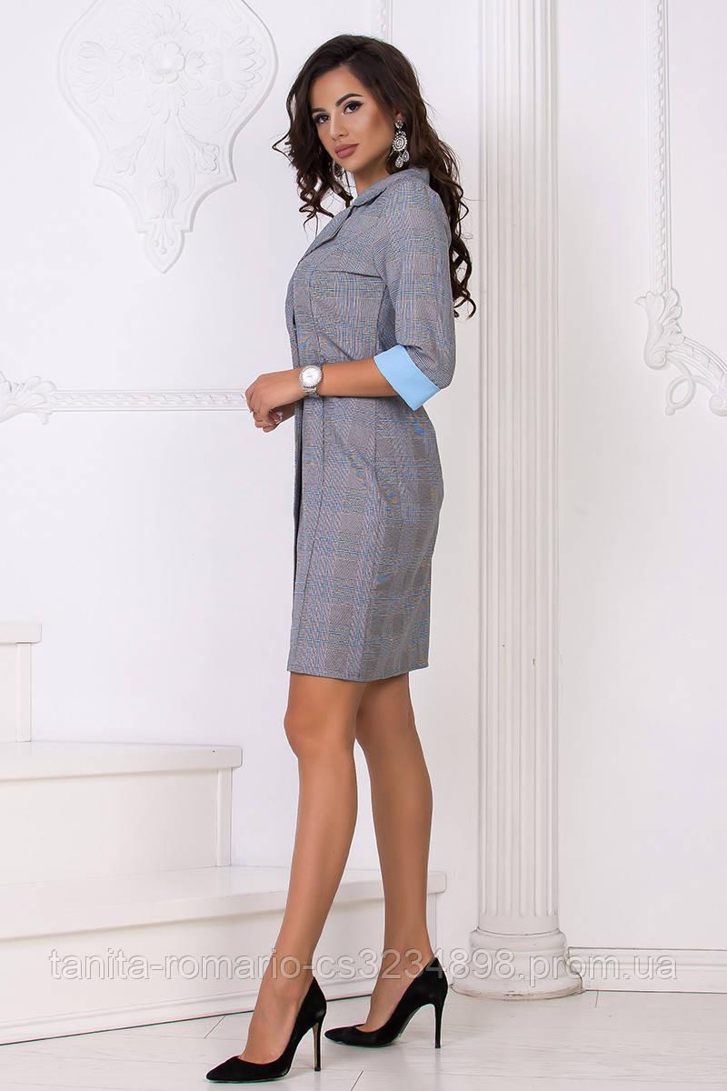Повседневное платье 8156e Голубой L(р)