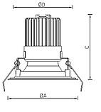 LED встраиваемые светильник IP54, Световые технологии OKKO IP54/IP20 26 WH 3000K DALI [1235001320], фото 3