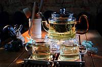 Комплект  посуды для чайной церемонии из боросиликатного стекла