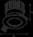 LED встраиваемый светильник IP20, Световые технологии QUO 18 WH D45 3000К [1507000580], фото 3