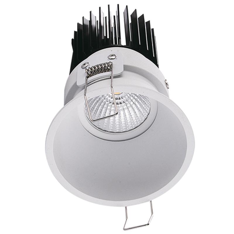 LED встраиваемый светильник IP20, Световые технологии FARO 18 WH D45 4000К [1542000550]