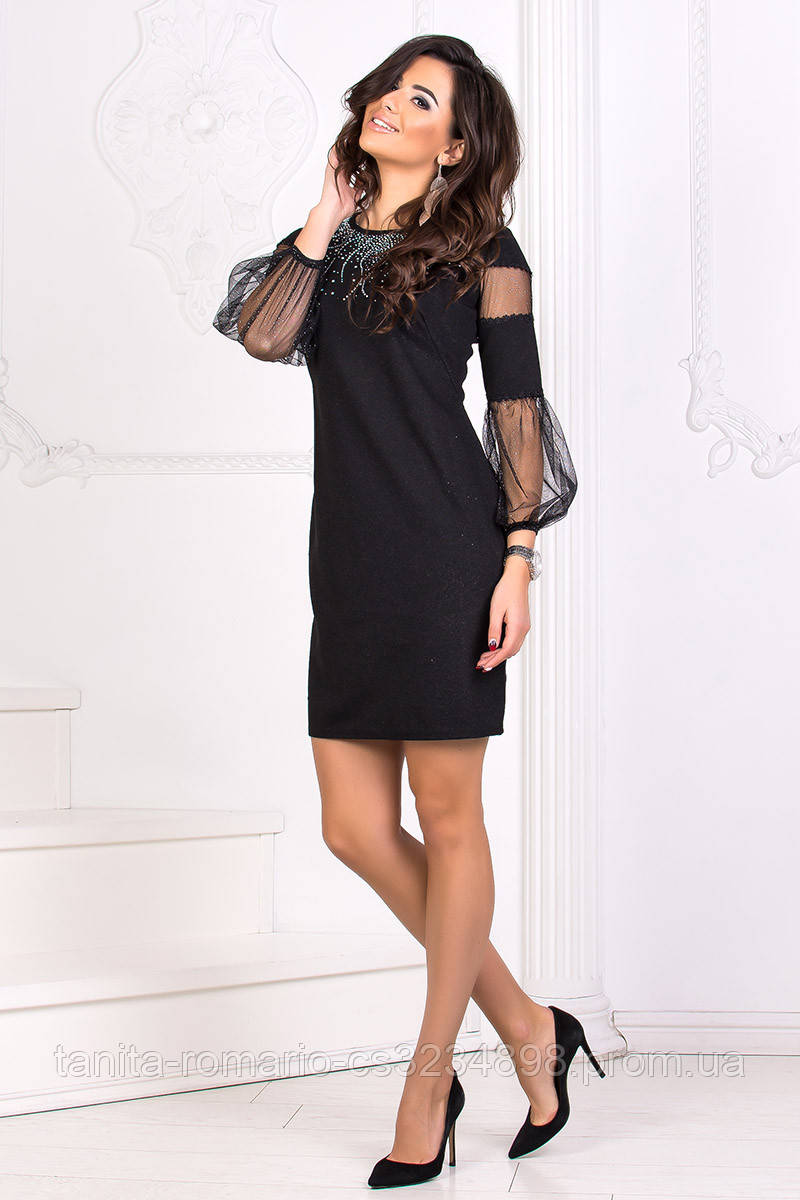 Коктейльное платье 8175e Чёрный S M L