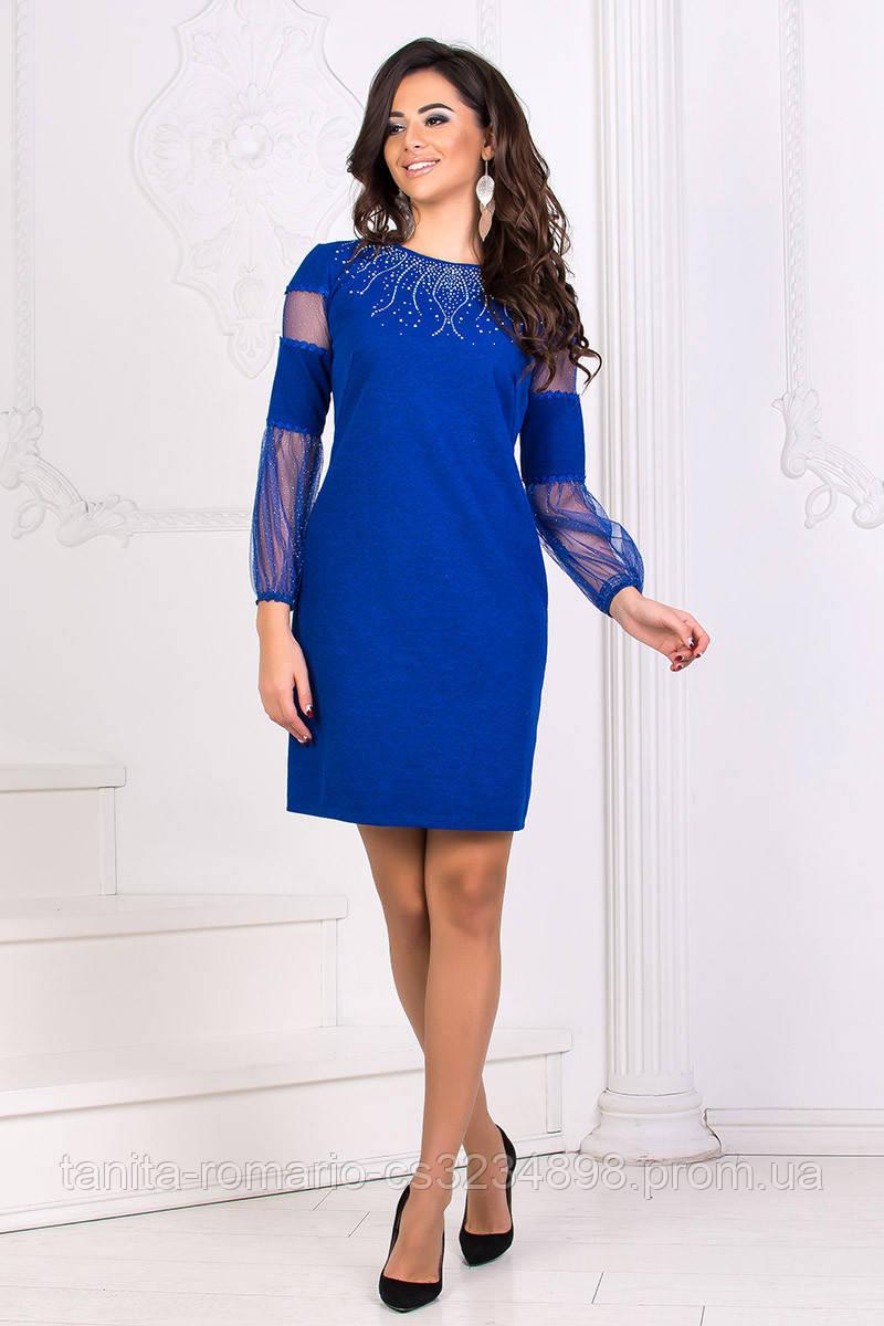 Коктейльное платье 8175e Электрик L(р)