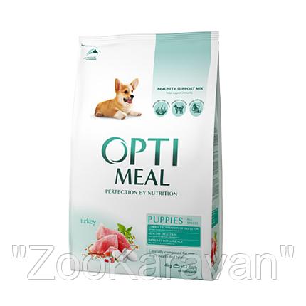 Сухой корм для щенков всех пород Opti Meal c индейкой 12 кг, фото 2