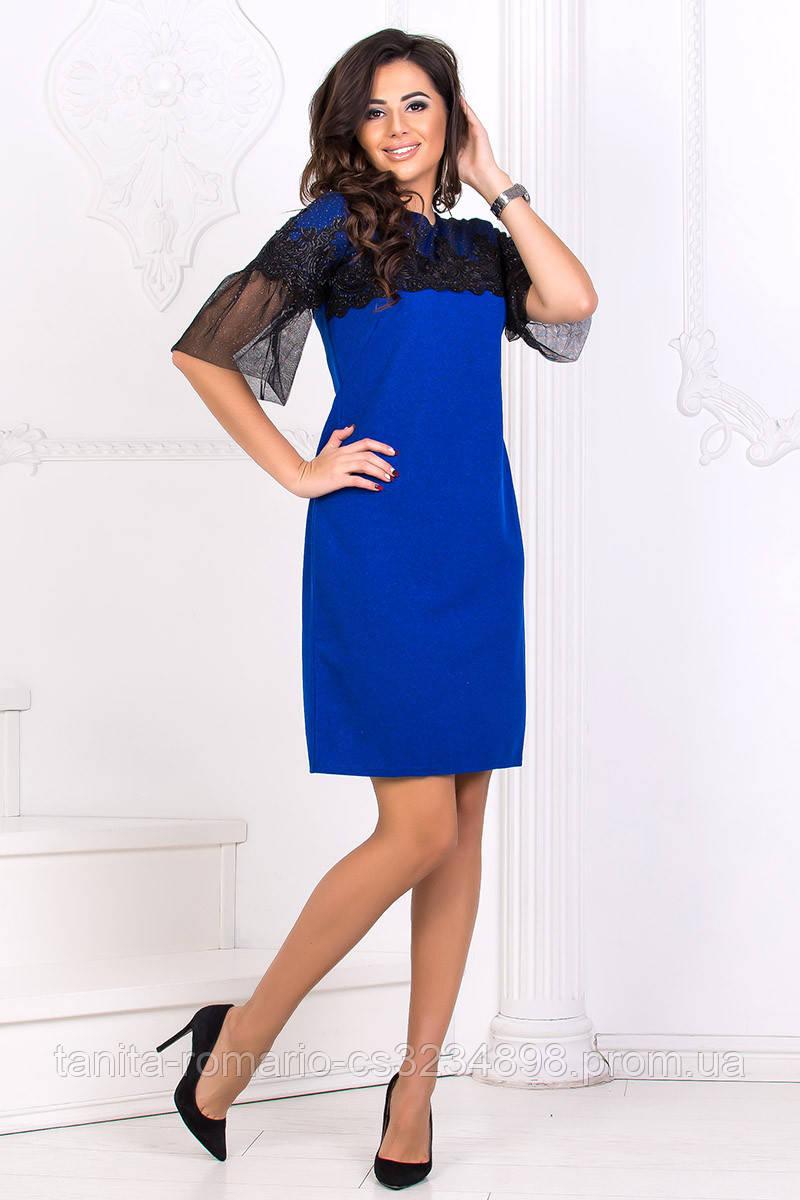 Коктейльное платье 8173e Электрик S(р)