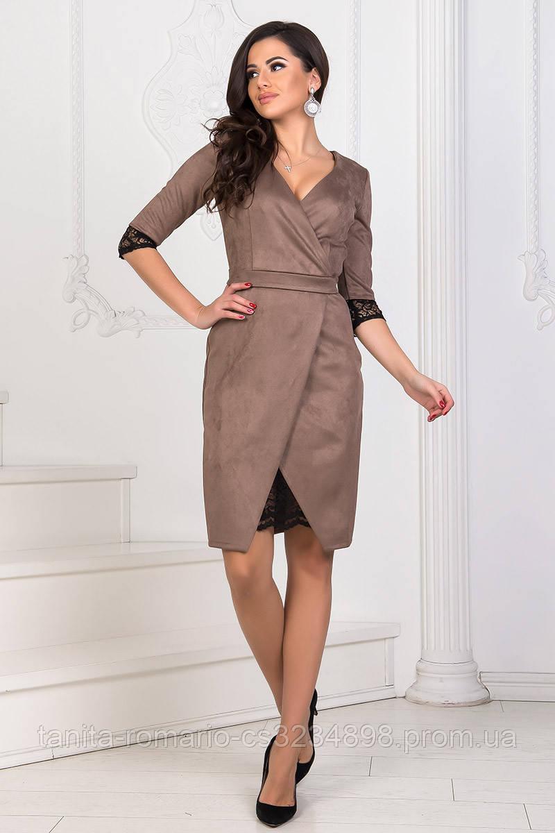 Повседневное платье 8200e Коричневый S(р)