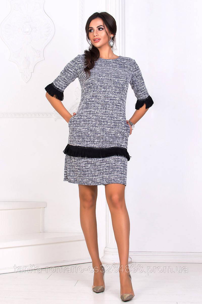 Повседневное платье 8171e Серый L(р)