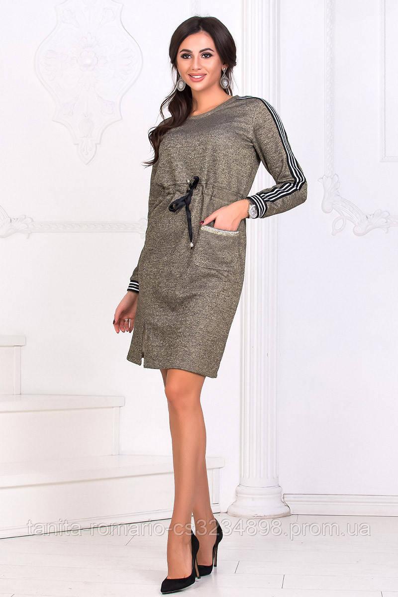 Повседневное платье 8182e Золотой L(р)