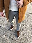 Мужское стильное пальто (коричневое) - Турция, фото 2