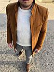 Мужское стильное пальто (коричневое) - Турция, фото 4