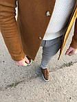 Мужское стильное пальто (коричневое) - Турция, фото 5