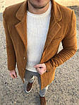 Мужское стильное пальто (коричневое) - Турция, фото 6