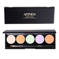Палитра из 5 консилеров Artmiss №01 (Five-color Multi-effect Concealer Palette), 1.5гр х 5