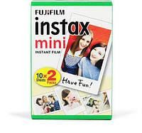 Фотоплівка Fujifilm Instax Mini c 2-я картриджа по 10 знімків для камер моментальної друку Mini 8, 8+, 9