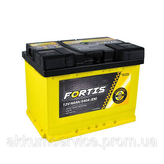 Аккумулятор грузовой Fortis 110AH R+ 1000А (FRT110-00)