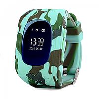 Детские телефон-часы с GPS трекером Smart Watch Q50 camouflage