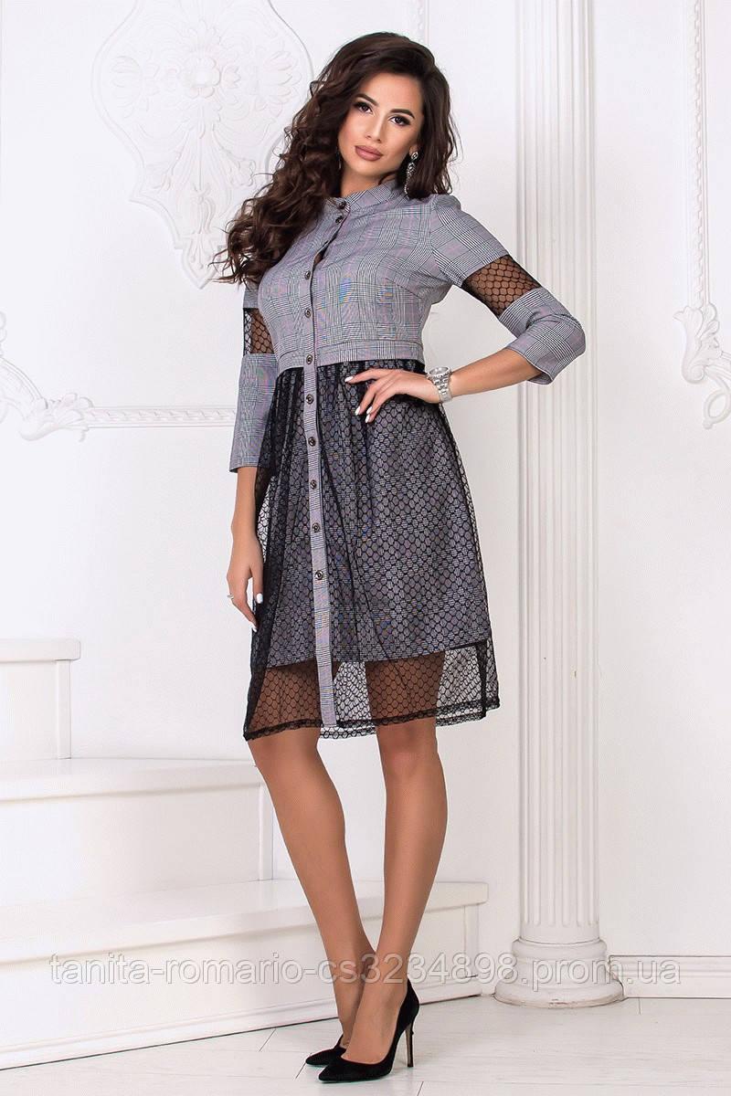 Повседневное платье 8158e Электрик S(р)
