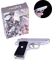 Зажигалка газовая с ножом Walther PPK (Турбо пламя) №XT-4967 Silver