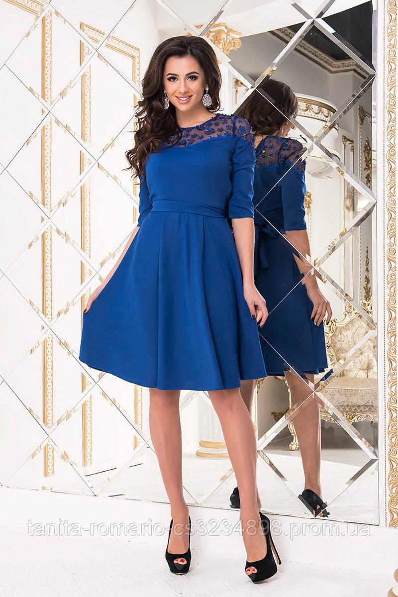 Коктейльное платье 8224e Электрик S M L