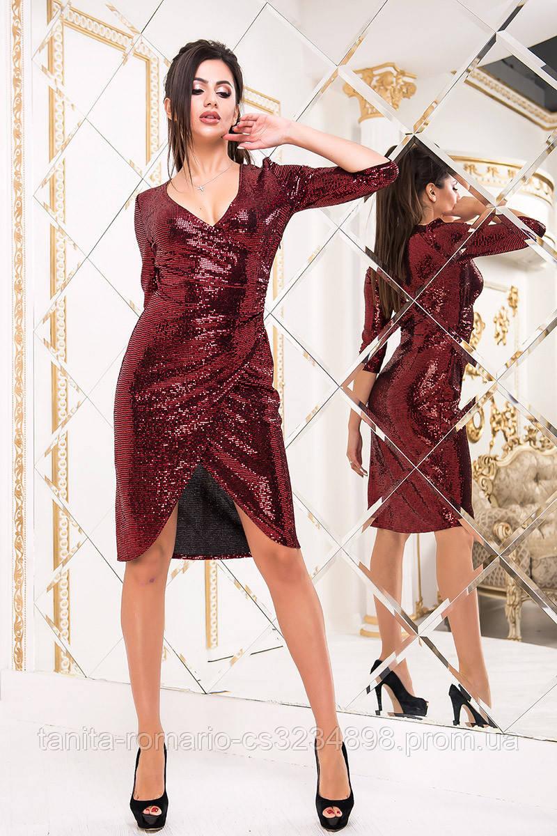 Коктейльное платье 8228e Красный S M L