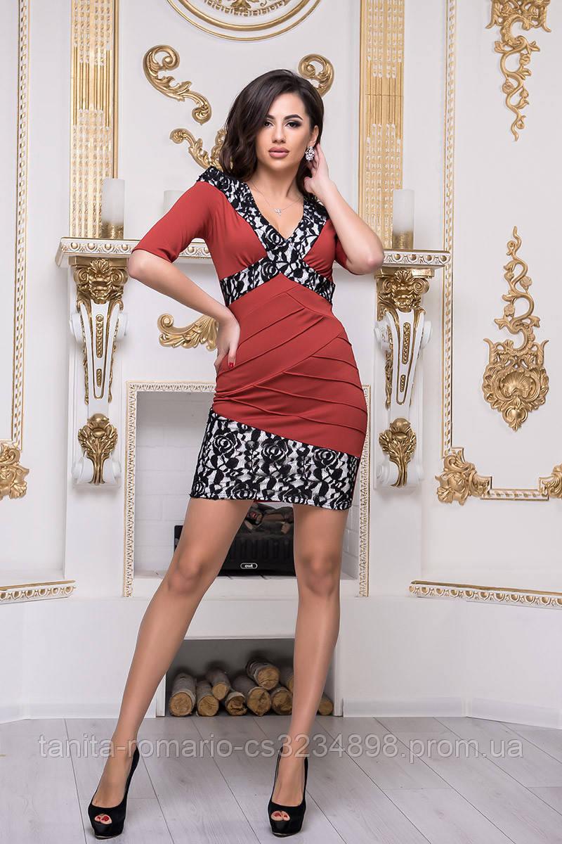 Повседневное платье 3236e Терракотовый L(р)