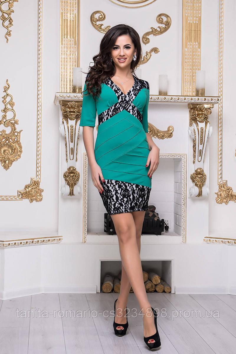 Повседневное платье 3236e Зелёный L(р)