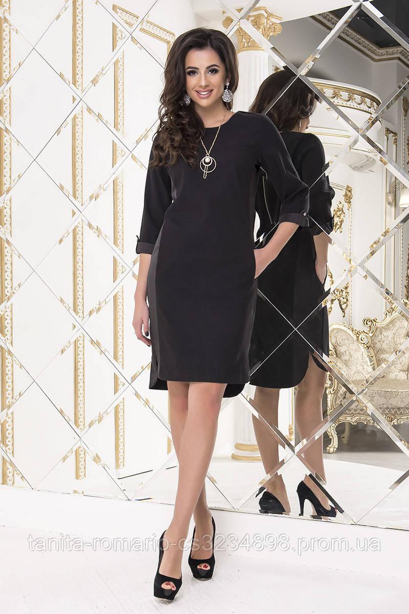 Повседневное платье 8166e Чёрный S(р)