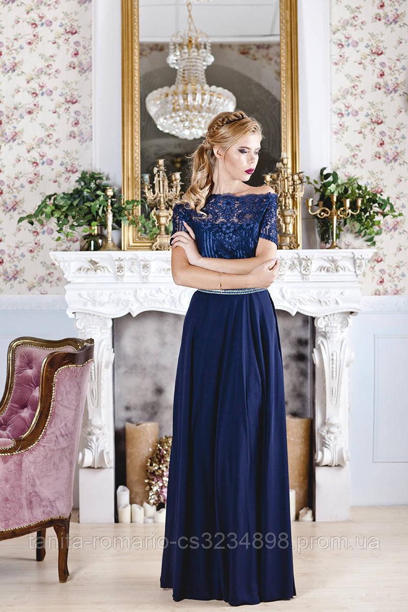 Вечернее платье 7181e Синий L(р)