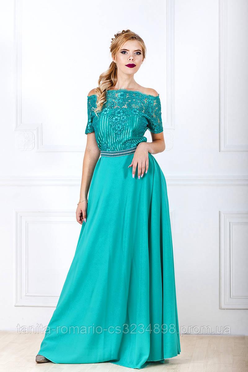 Вечернее платье 7181e Бирюза L(р)