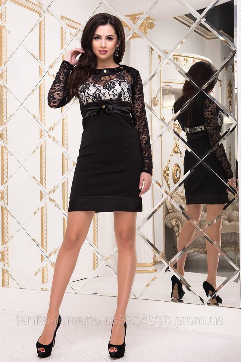 Коктейльное платье 1300e Чёрный/белый  S M L