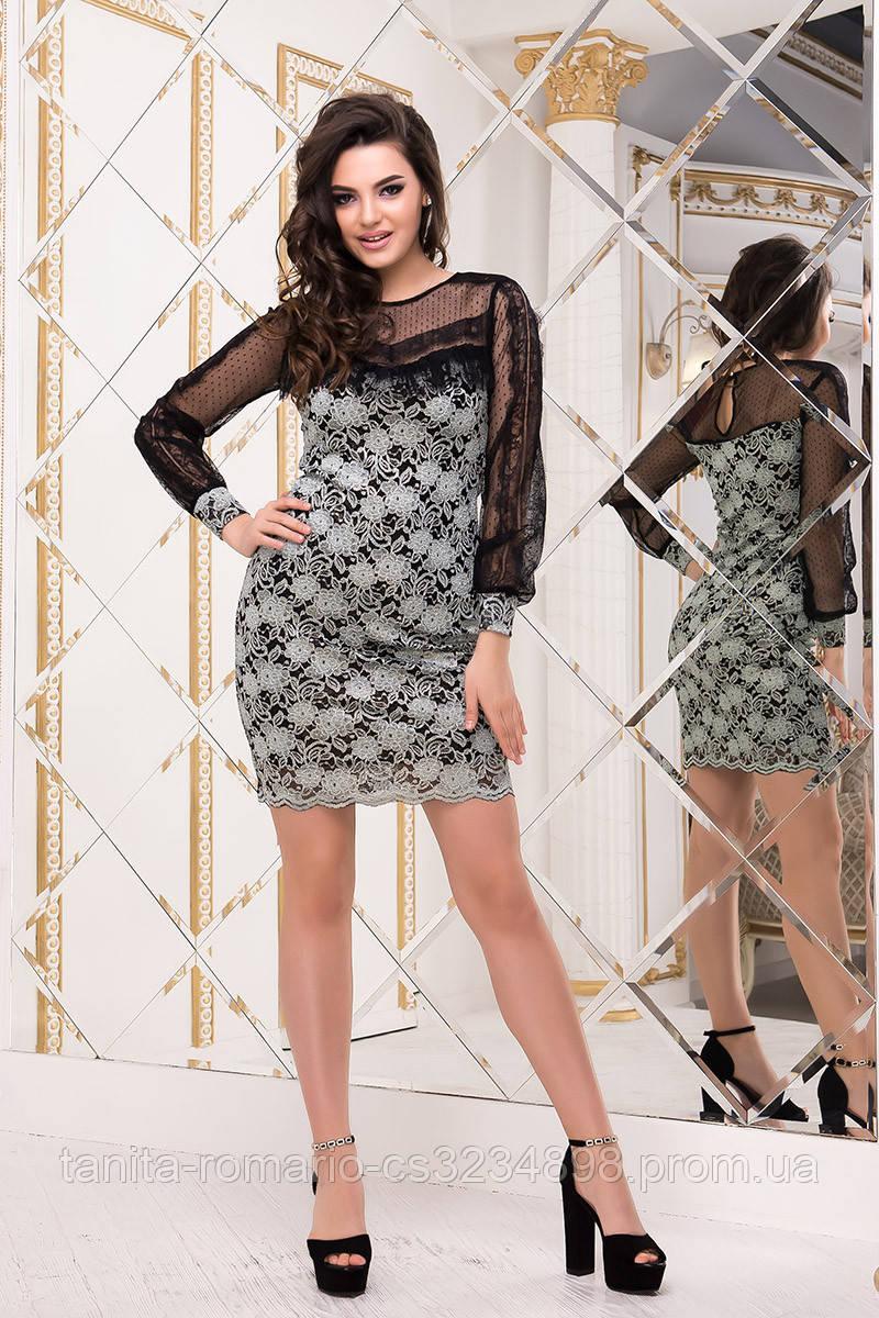 Коктейльное платье 8229e Мятный  S M L