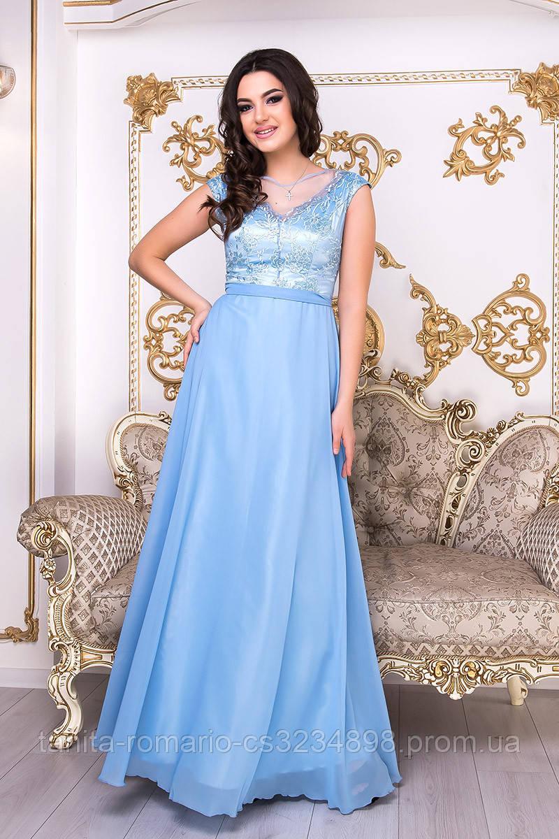 Вечернее платье 9000e Голубой  S M L