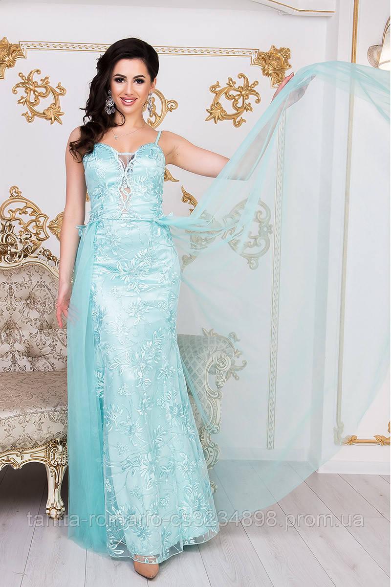 Коктейльное платье 9002e Бирюза L(р)