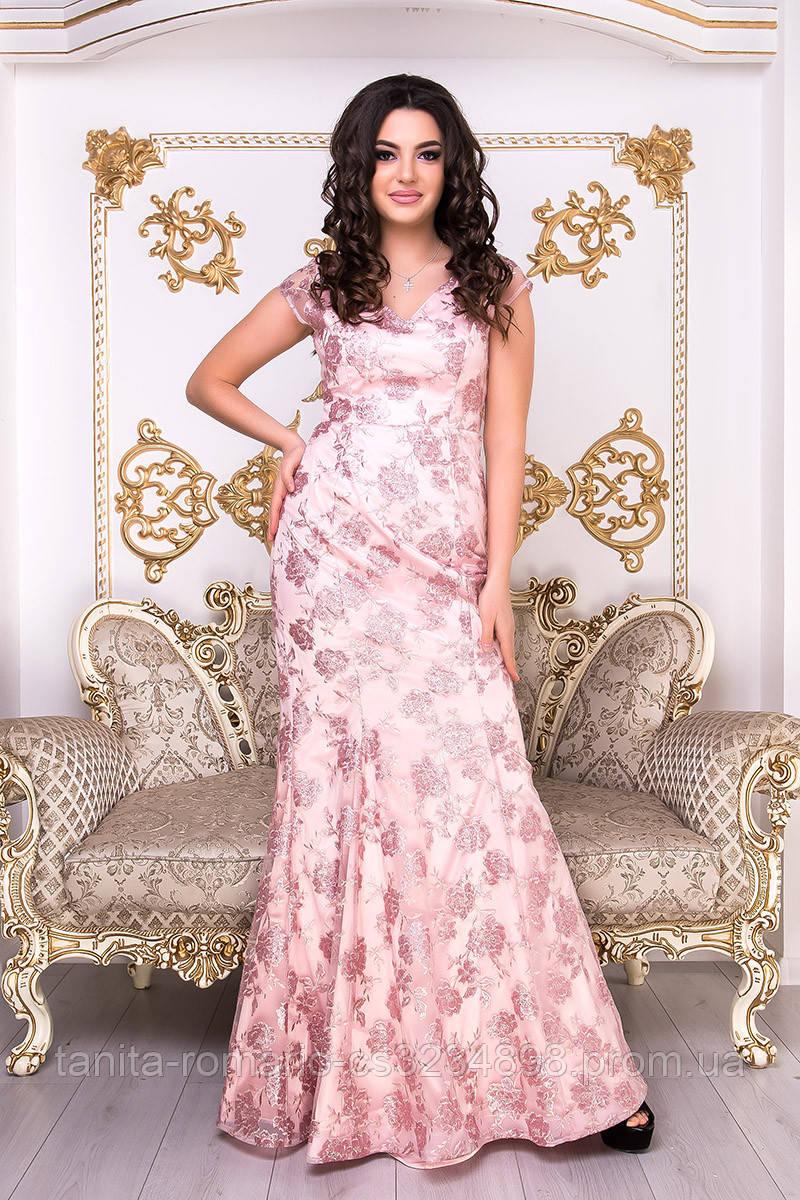 Вечірня сукня годе в квітковий принт